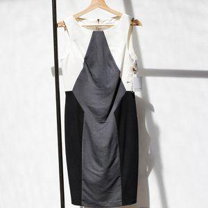 Calvin Klein Black/White/Grey shift dress